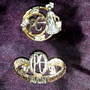 AVON Presidents Club 90/91 91/92 Pins